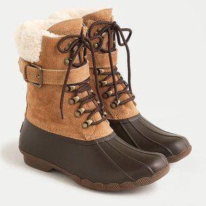 NIB Sperry winter boots WATERPROOF sherpa 10M
